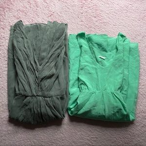 ❀ Bundle of 100% Silk Mid-Dresses ❀